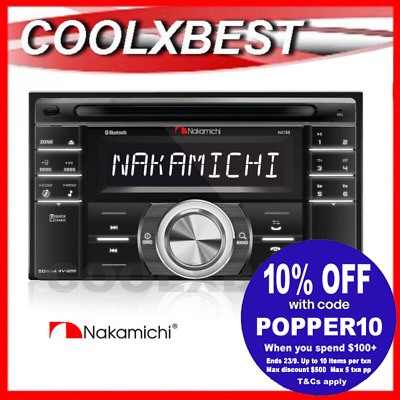 New Nakamichi Na788 Cd Usb Sd Bluetooth Car Stereo Audio Head Unit Double Din