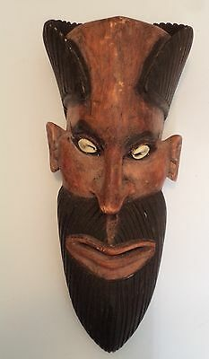 Genuine vintage Papua New Guinea carved wooden mask