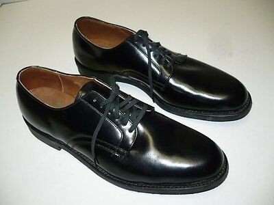 Vintage 1960's Black HANOVER MEN'S SHOES Hypalon, Cushion Insole - NEW