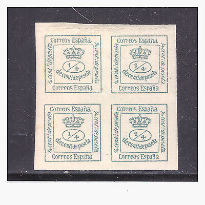 SPAIN SC. 174a BLOCK OF 4 TOP 2 STAMPS HINGED BOTTOM 2 MNH PB2