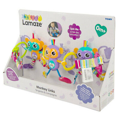 Lamaze Monkey Links Baby/Infant/Newborn Toy/Play Hanger for Car Seat/Stroller
