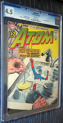The Atom #2 CGC 4.5 White Pages - 2nd Atom in own title!