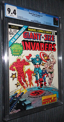 Giant-Size Invaders #1 CGC 9.4 White pages  - Team Origin and First Appearance!!