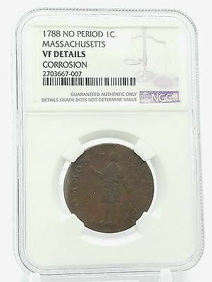 1788 Massachusetts Cent No Period Variety Ngc Vf Details