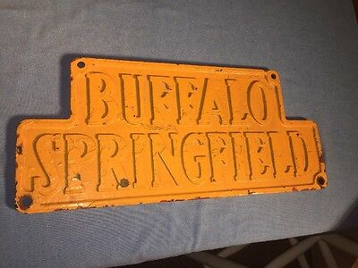 Buffalo Springfield Steam Roller Steam Tractor Vintage Sign