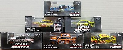 Joey Logano  -Mixed Lot of 6 Different 1:64 Scale NASCAR Diecast #2