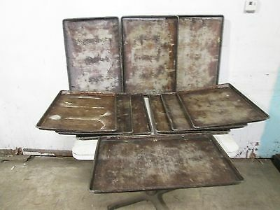 """Lot Of (10) H.d. Commercial Aluminum Full Size - """"fully"""" Perforated Sheet-Pans"""