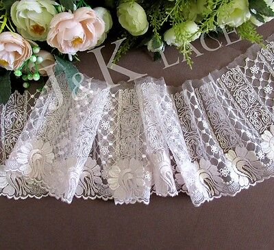 11.5 cm width Classic Pale Pink Embroidery Mesh Lace Trim
