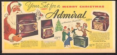 1948 - ADMIRAL Phonographs and Radios - Newspaper comic ad - MERRY CHRISTMAS
