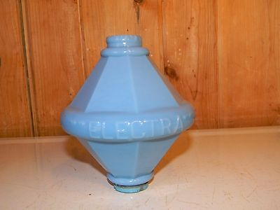 Antique Embossed Cone Style Electra Robin Egg Blue Lightning Rod Ball