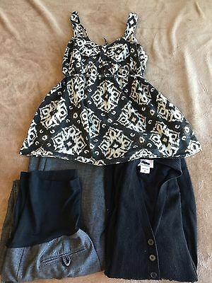 LIZ LANGE OH BABY MOTHERHOOD Maternity Pregnancy Outfit Pants Sweater Medium