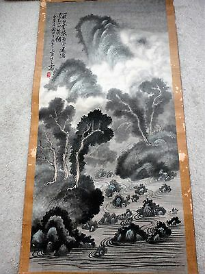 RARE! Antique China Painting Artist signed/Calligraphy Written date of 1949