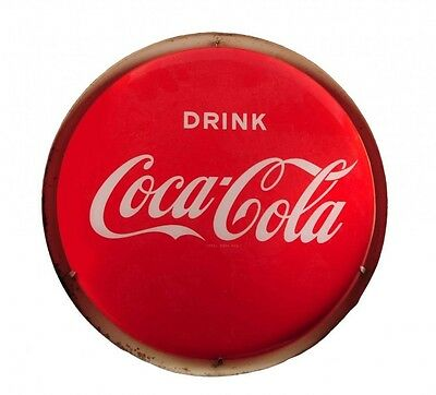 Vintage 1940's-1950's Lighted Drink Coca-Cola Round Button Specialine Sign 16""