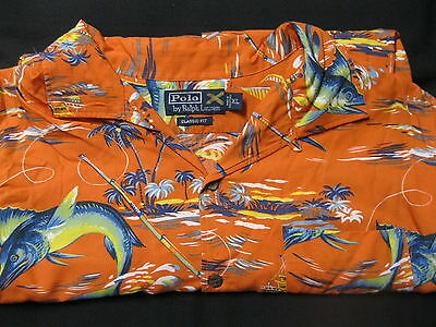 Polo Ralph Lauren SS Short Sleeve Classic Fit Hawaiian Camp Sport Shirt Mens XL