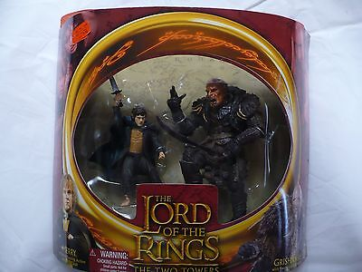 """Lord of the Rings 6"""" Round Front Merry and Grishnakh action figures by ToyBiz"""