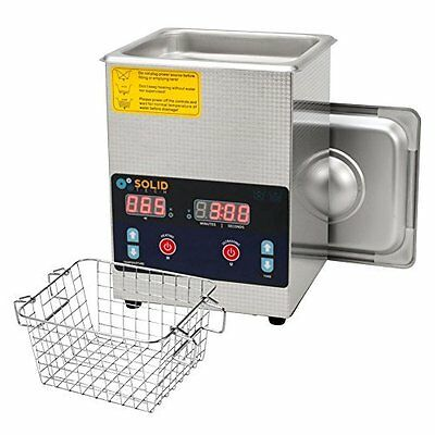 Stainless Steel Ultrasonic Cleaner 0.52 gal capacity with heater, basket & timer