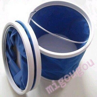 11L Folding Collapsible Bucket Barrel Water Container Car Washing Camping