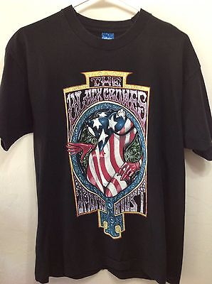 THE BLACK CROWES Amorica or Bust 90's T-shirt Womb of the Free