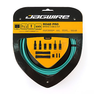Jagwire PCK208 ROAD PRO BRAKE Cable Housing Kit for SRAM/Shimano Bike - Celeste