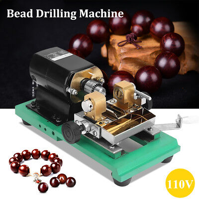 110V 300W Pearl Drilling Holing Machine Beads Driller Full Set Jewelry Tools New