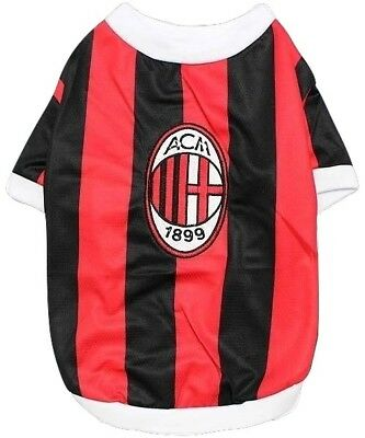 781ad282c New Pet Apparel AC Milan Dog   Cat Jersey Soccer FC Milano Football T Shirt