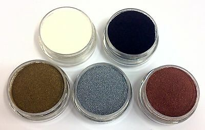 Embossing Powder 5 x 10ml Gold, Silver, Bronze, Black & White - DETAIL / FINE