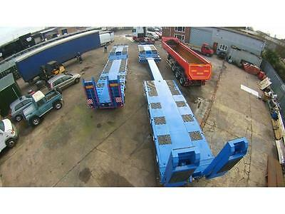 low loader trailer trucks 4 and 3 axles