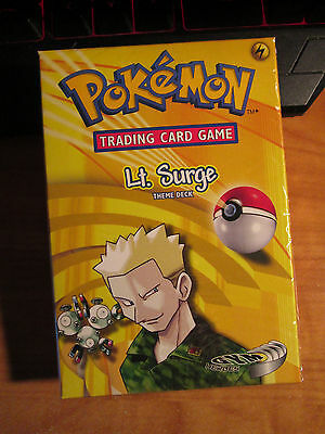 Sealed COMPLETE Pokemon LT SURGE'S Card GYM HERO Set THEME DECK Preconstructed