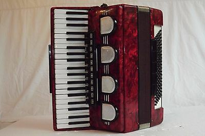 Piano accordion akkordeon  WELTMEISTER STELLA 120 bass