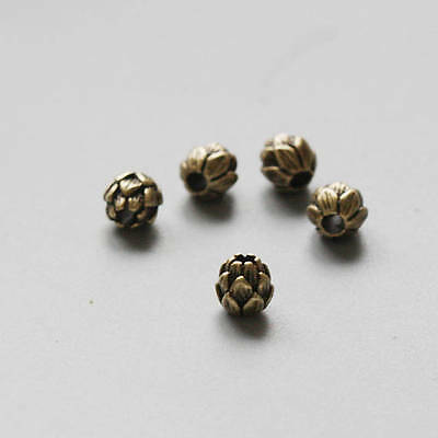 2 Pieces Antique Brass Brass Base Spacer - Flower 7.6mm (1262C-V-125)