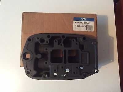 NEW OEM OMC JOHNSON EVINRUDE ADAPTER AND SEAL Exhaust housing 45HP 55HP 0434095