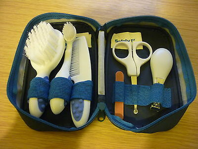 Safety 1st Deluxe Grooming Set - Brush, clippers, scissors, comb etc in case