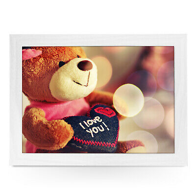 Teddy Bear I Love You High Quality Padded Laptray Valentines Gift - L0452