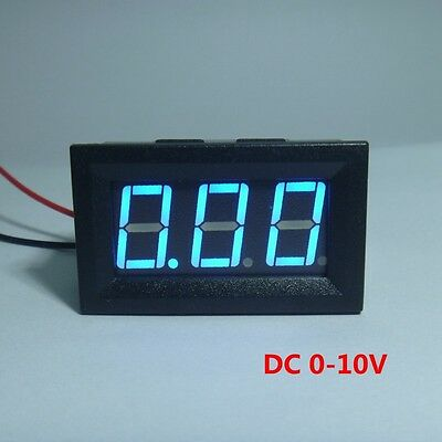 Digital Voltmeter Battery Voltage Gauge Tester DC 10V Car Blue LED 3 Digit 0.56""
