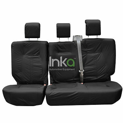 Land Rover Discovery 4 Rear 35/30/35 Inka Tailored Waterproof Seat Cover Black