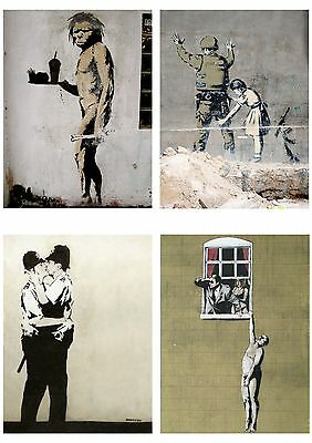 Banksy Graffiti Street Art Pack 8 Poster Collection / Set 8 Prints Hp4138