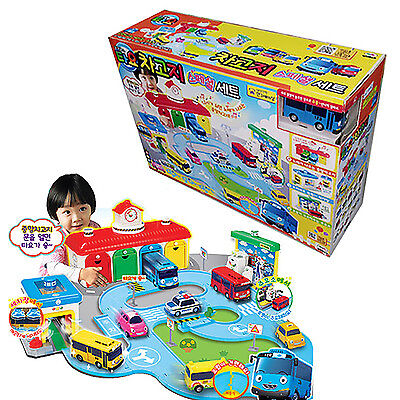 TAYO the Little Bus Garage Special Set Toy Road Play Sound Song Car Kids Gift