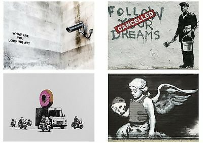 Banksy Graffiti Street Art Pack 12 Posters Collection / Set 12 Prints Hp4141