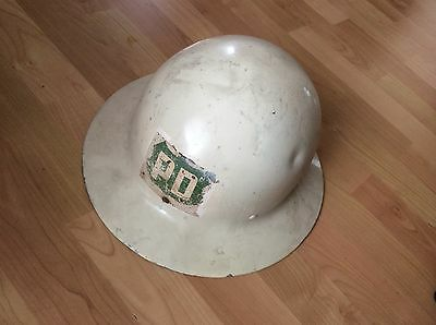 Wwii Us Civil White Metal  Helmet Shell Hat