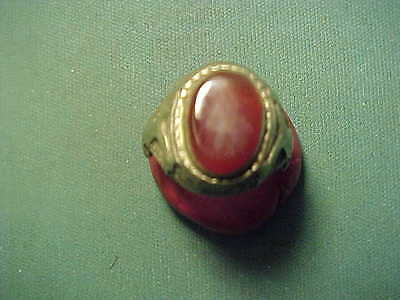 Near Eastern hand crafted  ring carnelian stone 1700-1900
