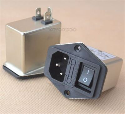1Pcs Socket Connector 10A Power Emi Filter Canny Well Emi With Rocker Switch I Y