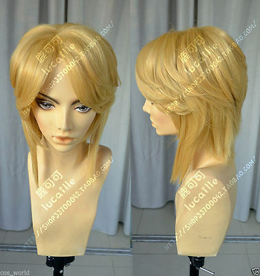 The Legend of Zelda Link Brave Cosplay Hair Wigs Anime Games+Gift Hairnet#812