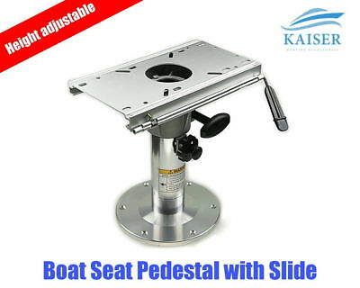 Kaiser Height Adjustable Heavy Duty Boat Seat Pedestal 356mm - 508mm with Slider