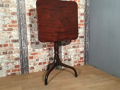 Georgian Mahogany Rectangular Snap Catch Tilt-Top Table circa 1820-30