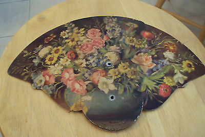 """Vtg ca. 1940 Paper Advertising Floral Fan~""""TACCHINO PASTRY SHOP""""~Fresno~"""