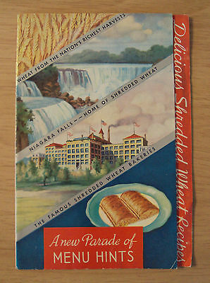 "1935 National Biscuit ADVERTISING Booklet/Recipes~""SHREDDED WHEAT""~Niagara Falls"