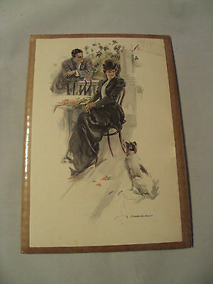VTG ART Print~HARRISON FISHER~Wanted-An Answer~