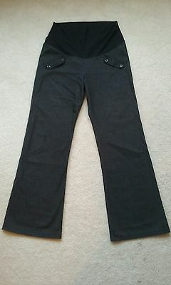 Womens VALIA Black Maternity Flare Slack Pants Size Medium EUC!