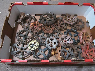 23 Large Vintage Industrial Machine Age Steampunk Cast Iron  Water Valve Handles