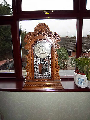 Lovely Ansonia 'Gingerbread' Clock c 1880 - 1890's